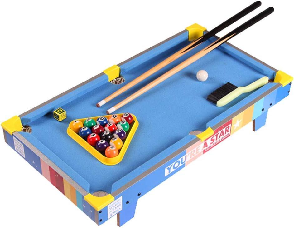 Mesa de Billar Infantil Mini Billar Juguetes niños Juegos de Mesa Juguetes caseros Juguetes interactivos (Color : Blue, Size : 69.5 * 37 * 13.5cm): Amazon.es: Hogar