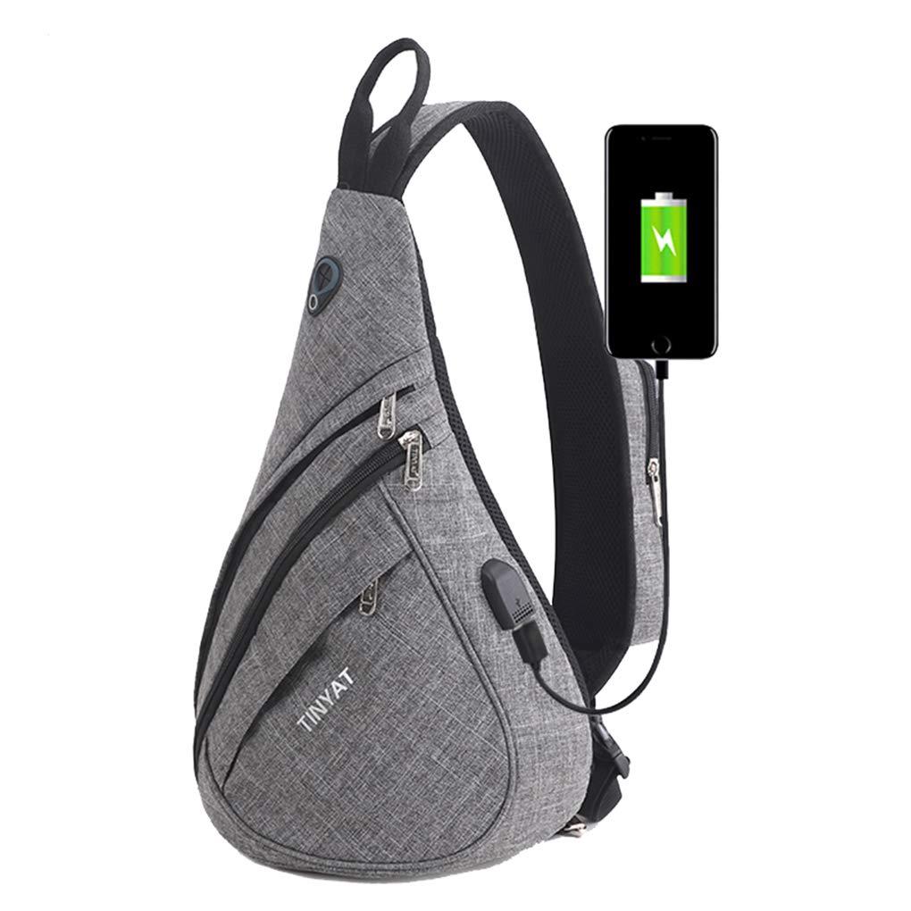 Black Sling Bag-Multipurpose Portable Travel Crossbody Backpack for Men /& Women