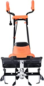 Hattomen Electric Garden Tiller, 8.5 Amp Electric Cultivator, 14 Inch Tilling Width, 8 Inch Working Depth, for Garden, Lawn, Digging, Weed Removal, Soil Cultivation