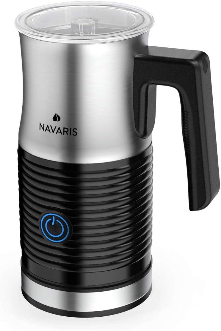 Navaris Espumador de Leche el/éctrico con Espuma Caliente o fr/ía para un caf/é Calentador autom/ático de Leche con 3 Modos y 500V