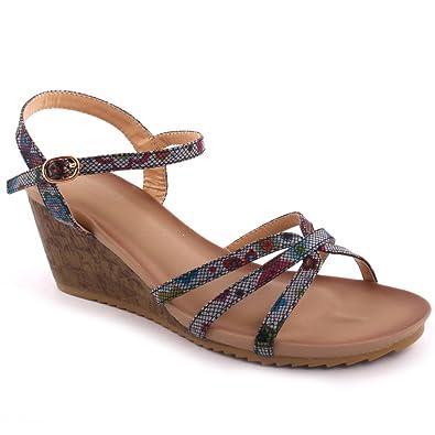 Nouveau Toe 'verve' Open Sandales Unze Summer Femmes Beach Wedge 0ymwPvONn8