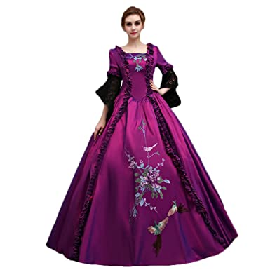 Zukzi Womens 3/4 Sleeve Long Purple Prom Dresses Victorian Gown, X7931, Medium