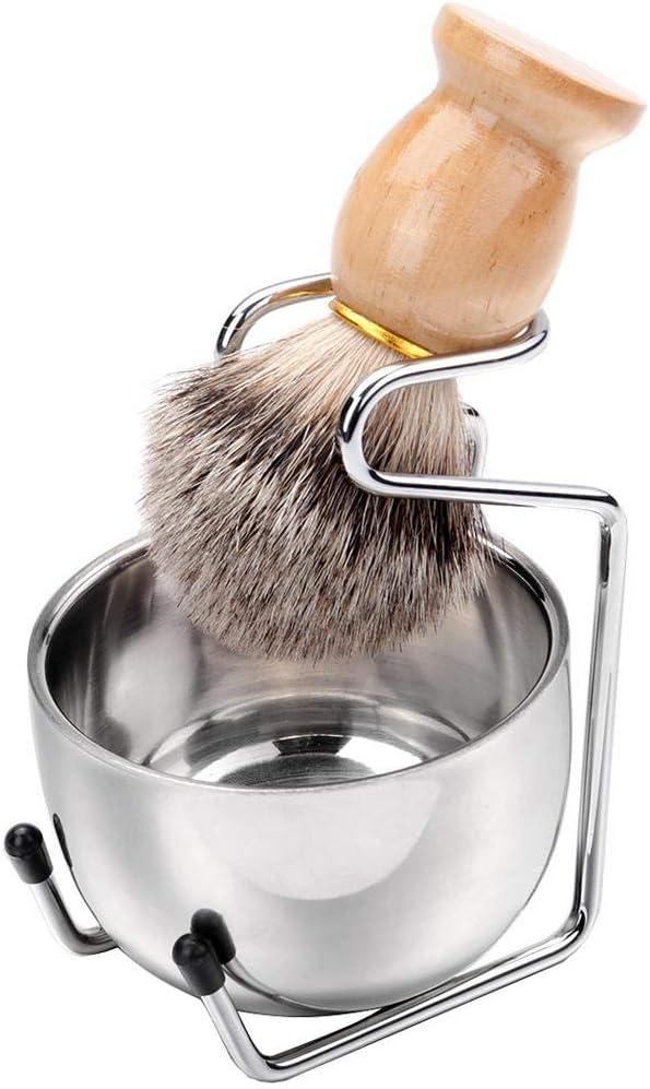 3 En 1 Brocha Afeitar Base Juego Estructura Afeitar Herramienta Limpieza Afeitar Jabón Afeitar Tazón Hair Brocha Afeitar Like-minded Cosy: Amazon.es: Belleza