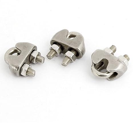 Aexit 3 Unidades Silver Tone Clip de Cable de Acero ...