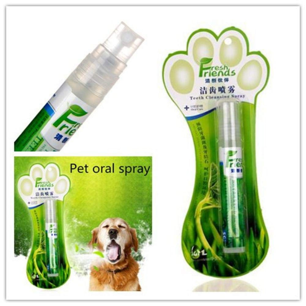 S WIDEN ELECTRIC Pet Dental Spray Clean Tooth Spray Oral Cleaner Fresh Smell Remove Odor Prevent Plaque Calculus Pet Teeth Cleaning Mist for Dog Cat