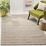 Safavieh Cape Cod Collection CAP412A Hand Woven Geometric Grey and Sand Jute and Cotton Area Rug (5' x 8')