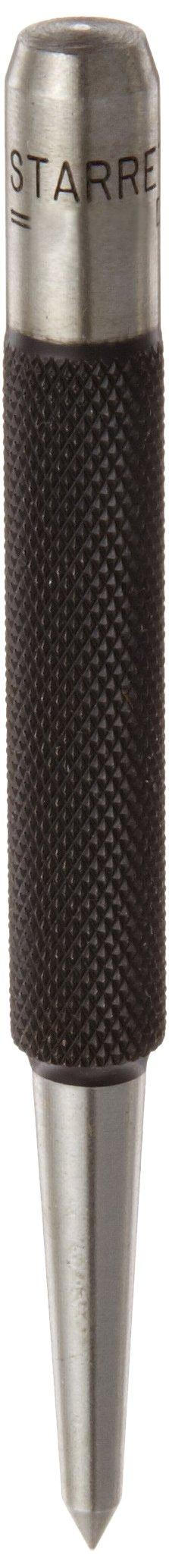Starrett 816D Prick Punch, 4'' Length, 5/32'' Tapered Point Diameter