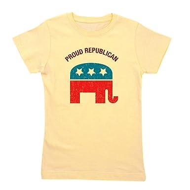 cf7789b61 Amazon.com  CafePress - Proud Republican - Girl s Cotton T-Shirt ...