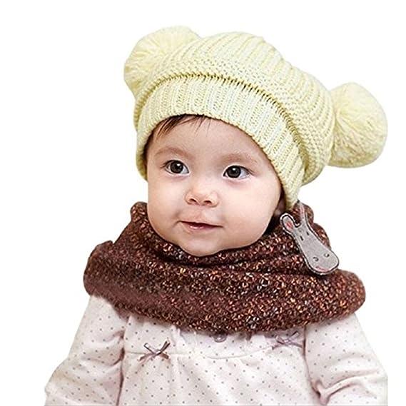23d8d5edfb4 Amazon.com  Creazy Cute Baby Infant Boy Girl Stripe Beret Cap Peaked  Baseball Hat (A)  Clothing
