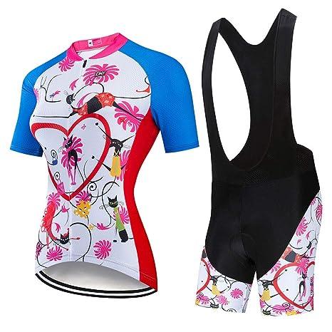 YDJGY Ciclismo Ropa Mujer 2019 Ciclismo Conjunto Jersey ...