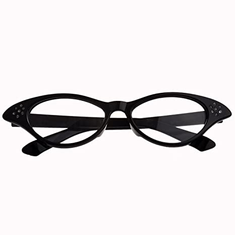 buon servizio alta qualità vendita all'ingrosso SODIAL TM - Occhiali con strass, stile Grease Cateye, adatti per costume  anni 50/60