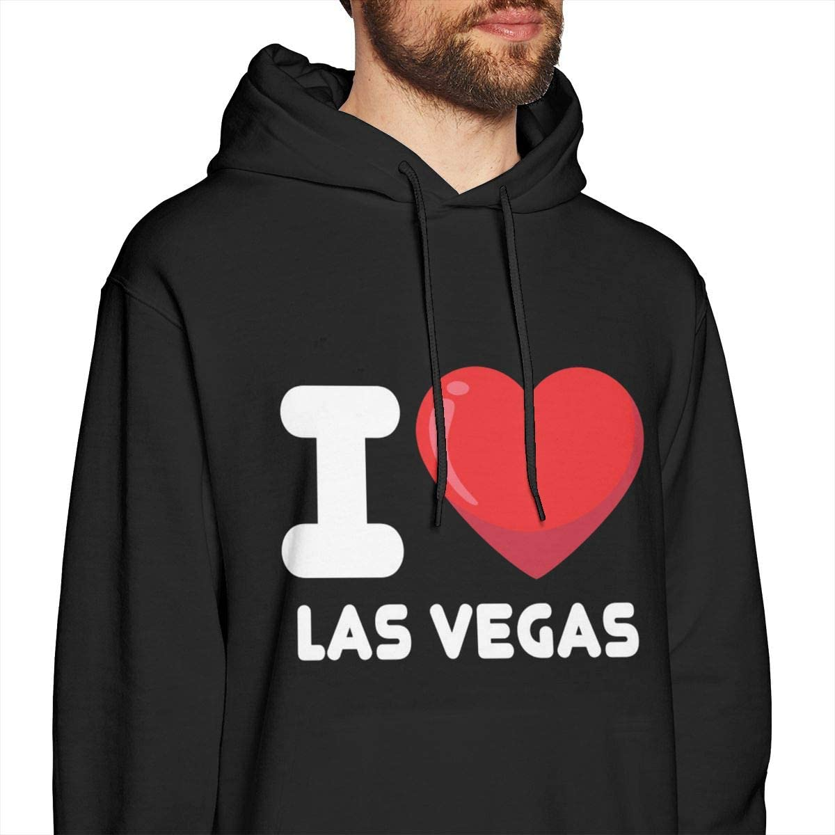 I Love Las Vegas Mens Pullover Hooded Sweatshirt Long Sleeve Hoodies