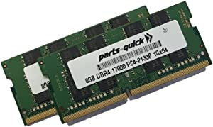 16GB (2 X 8GB) Kit Memory for MSI Notebook GE62 6QF Apache Pro DDR4 2133MHz SODIMM RAM (PARTS-QUICK Brand)