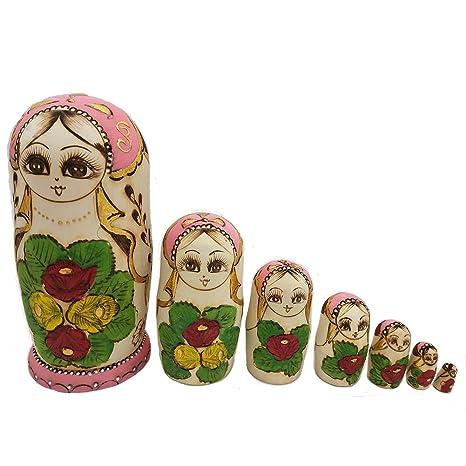 amazon com lovestown cute handmade wooden traditional russian girl