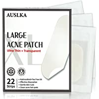 AUSLKA Large Acne Pimple Patches (22 Strips), Hydrocolloid, XL-Invisible-Ultra Thin Spot Stronger Absorption, Long Size…