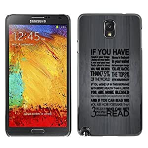 GagaDesign Phone Accessories: Hard Case Cover for Samsung Galaxy Note 3 - Deep Typography Message