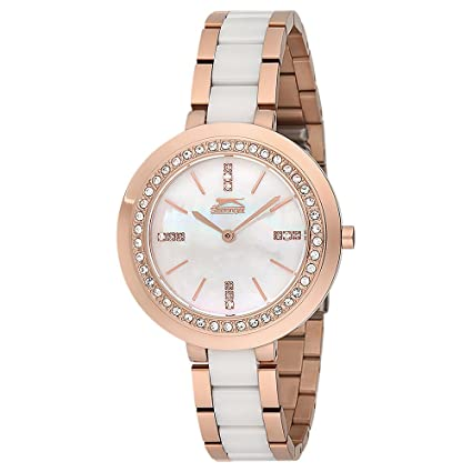 SLAZENGER Womens Analogue Metallic Watch-SL91350301