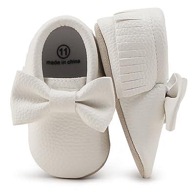 7a7503b020baf DELEBAO Chaussures Bébé Chaussons Bébé Cuir Souple Chausson Enfant  Chaussures Premiers Pas Cuir Souple Bébé Fille