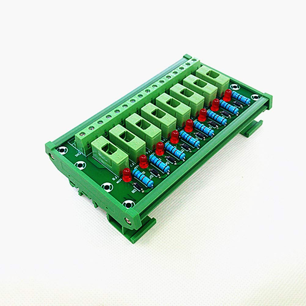 DIN Rail Mount 8 Channel Fuse Module Board,Fuse Holders.