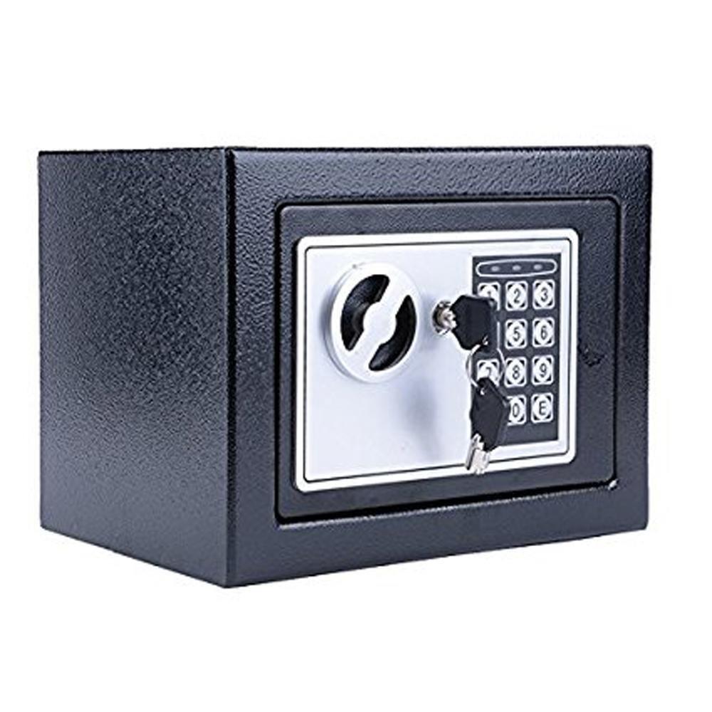 Digital Safe Deposit Box,Pagacat Home Security Box Includes Keys for Money,Gun,Jewelry,Cash[US Stock]