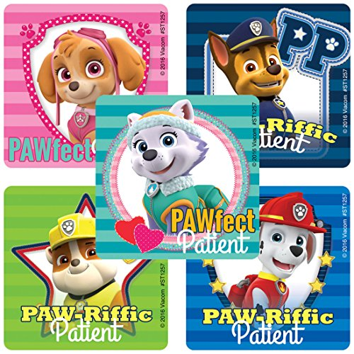 SmileMakers PAW Patrol Patient Stickers - Prizes 100 Per Pack