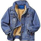 kretenier Toddler Boys Lined Warm Denim Jackets Kids Outerwear Jackets(Size 4T-10)
