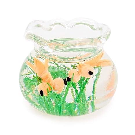 Odoria 1/12 Miniatura Acuarios de Peces Transparente Decorativo para Casa de Muñecas