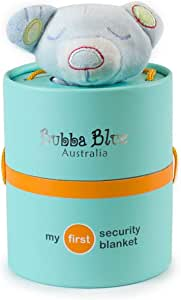 Bubba Blue Blue Bear Security Blanket, Blue