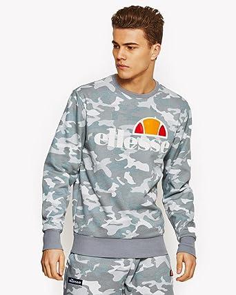 9fbabf96bb ellesse Sweat - Mens Succiso Sweatshirt in Grey Camo, Sweatshirts ...