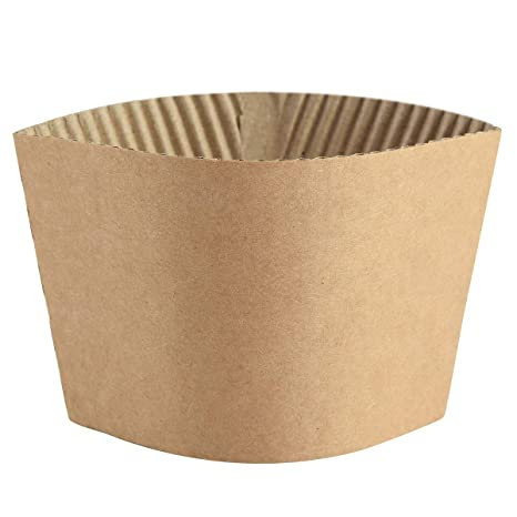 cade6ef4fd6 Coffee Sleeves - 500 count SPRINGPACK Disposable Corrugated Hot Cup Sleeves  Jackets Holder - Kraft Paper Sleeves Protective Heat Insulation Drinks ...