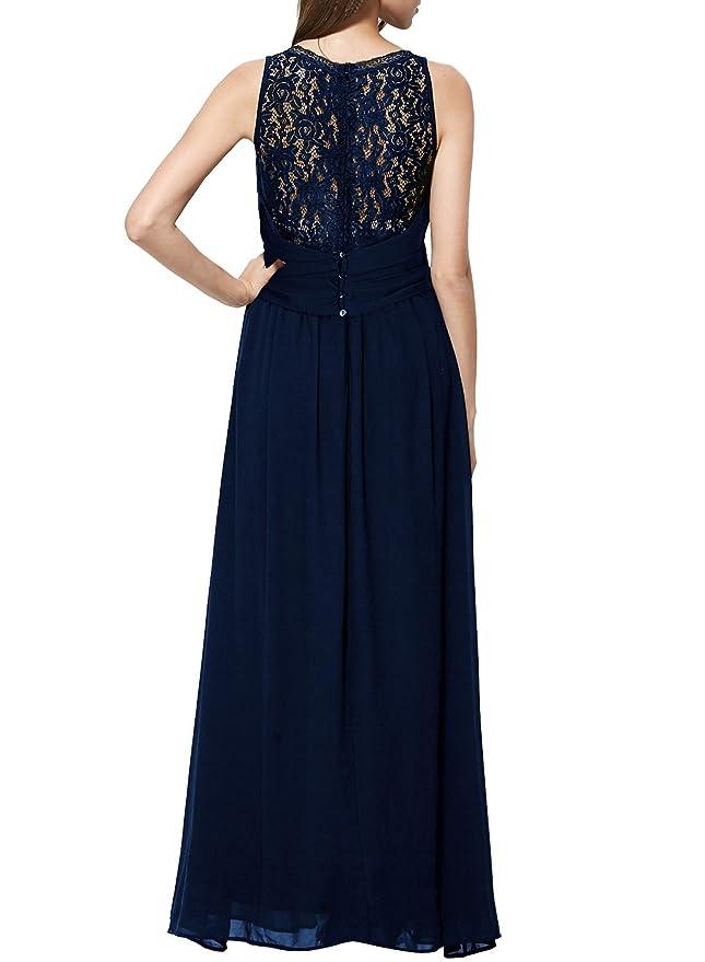 5c6bb6ab6fbf84 Miusol Damen Elegant Spitzenkleider Hochzeit Brautjungfer Chiffon  Abendkleider: Amazon.de: Bekleidung