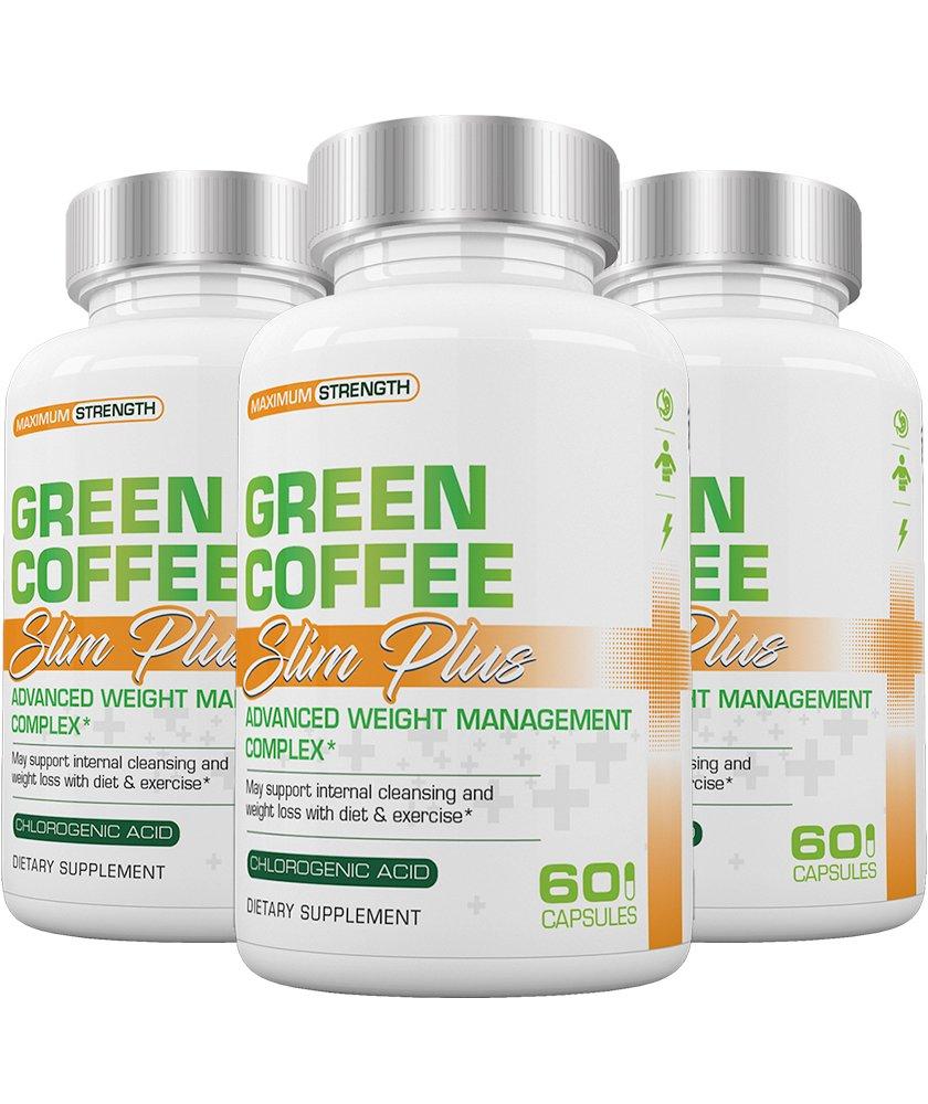 Slim Plus Green Coffee - Slimplus Green Coffee Weight Loss, Must be used with Slimplus Garcinia Camgobia (Buy 2 Get 1 FREE)