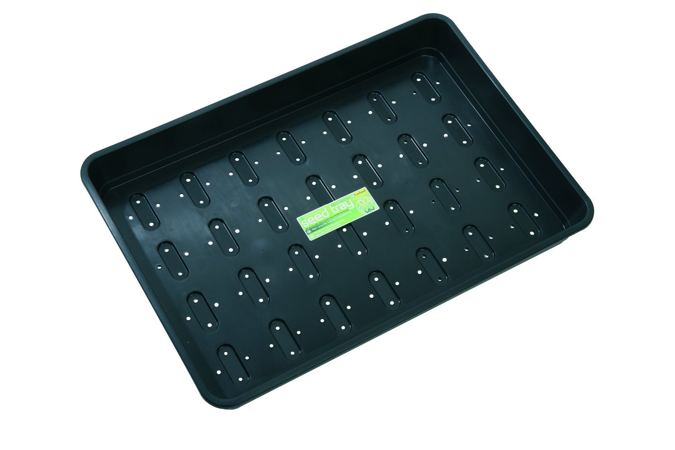 Tierra Garden GP153B Seed Tray with Holes, X-Large, Black