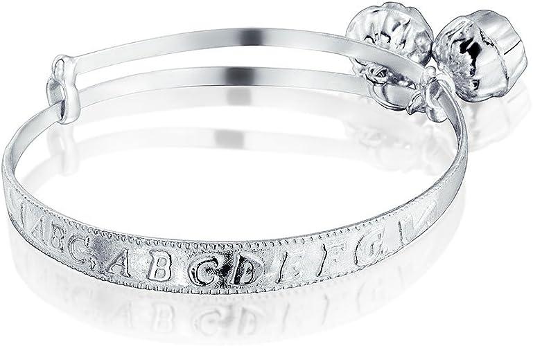 S999 Sterling Silver Bracelet Carved Expandable Bangle Adjustable Good Luck