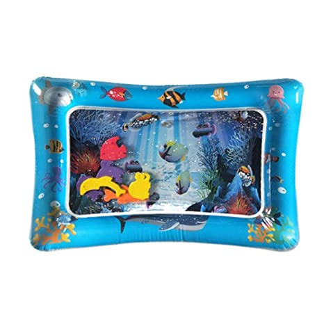 The Perfect Fun Time Play Activity Center for Your Babys Stimulation Growth DokFin Tummy Time Mat Premium Inflatable Water Play Mat for Babies Infants and Toddlers