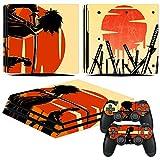 EBTY-Dreams Inc. - Sony Playstation 4 Pro (PS4 Pro) - Samurai Champloo Anime Mugen Jin Vinyl Skin Sticker Decal