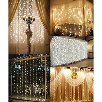 Amazon Com Brightcasa String Lights Curtain By For