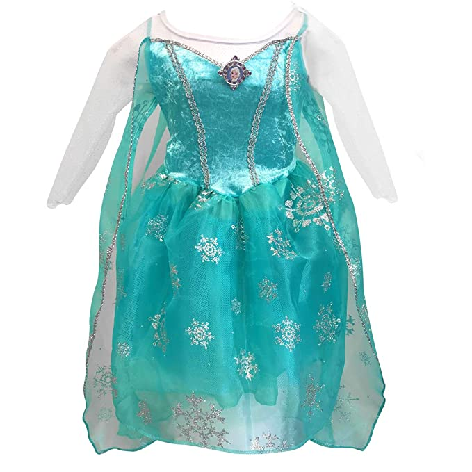 81c315d51 Fantasy Ruz Disfraz Talla 8 Vestido Elsa Frozen Niña Disney Original Azul