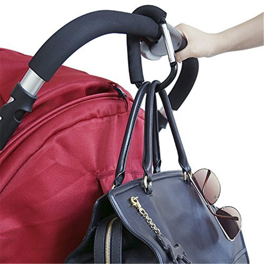 Tmrow Stroller Hook - Multi Purpose Hooks - Hanger for Baby Diaper Bags, Groceries, Clothing, Purse (1pc)