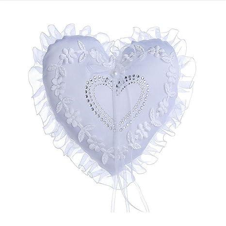 Diseño de corazón de encaje de flores anillos de boda ...