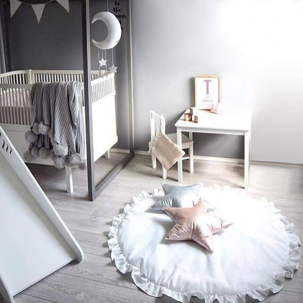 Cathy02Marshall Manta Bebe Arrastre Mat Tapete Color S/ó lido Manta Multifuncional para Dormir Tapete Decoraci/ó n Habitaci/ó n Ni/ñ os Cubierta - Algod/ó n