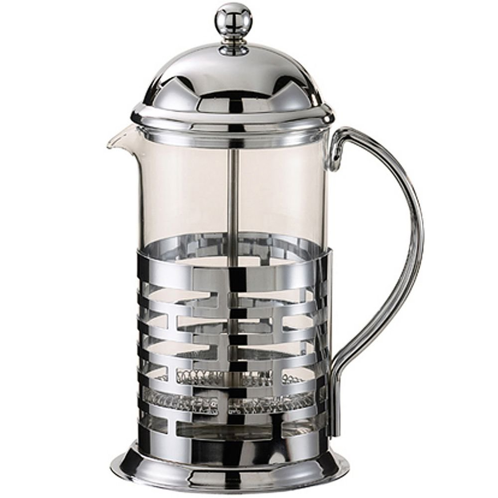 Service Ideas T477B Brick Coffee Press, Polished, Stainless Steel, 600 mL