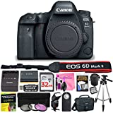 Canon EOS 6D Mark II (BODY) 26.2 MP Digital SLR Camera (Wi-Fi Enabled) ESSENTIAL Single Lens STARTER Kit & Deluxe Camera Works Accessory Bundle