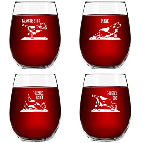 Amazon.com: Vasos de vino para yoga.: Kitchen & Dining