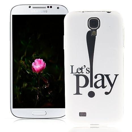 XiaoXiMi Funda Samsung Galaxy S4 Carcasa de Silicona Caucho Gel para Samsung Galaxy S4 Soft TPU Silicone Case Cover Funda Protectora Carcasa Blanda ...