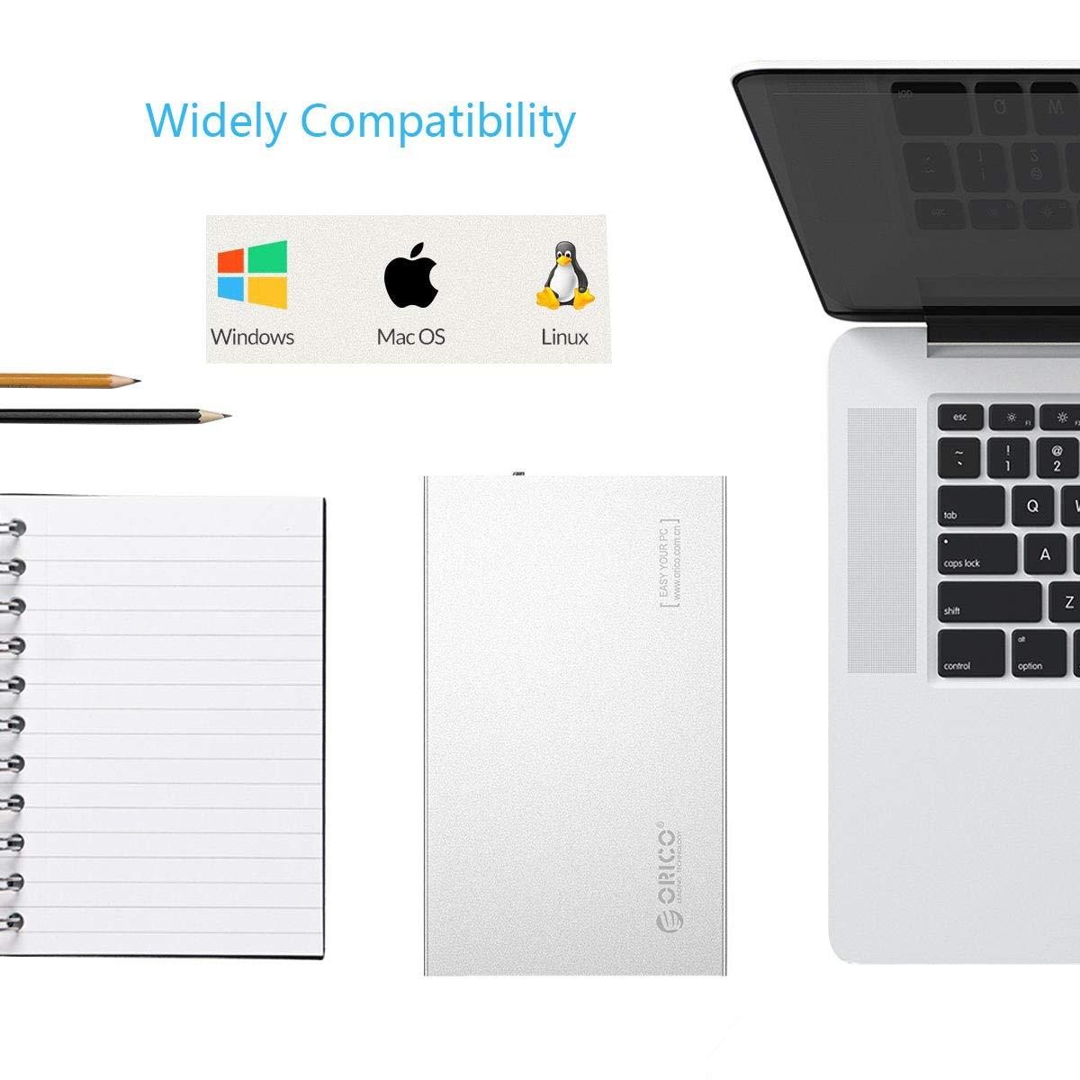 Amazon.com: 'ORICO 3.5 inch USB Type-C – Caja de disco ...