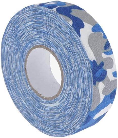 CUTICATE Cinta Adhesiva Antideslizante de Algodon/Cinta de Agarre para Patinetes Raquetas Bates Palos Empuñadura de Hockey, Multicolores - Camuflaje Azul, Los 0.25x25M: Amazon.es: Deportes y aire libre