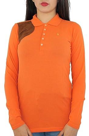 85c0d030b2bf9 Polo Ralph Lauren Shirt - Femme Orange Orange - Orange - XL  Amazon ...