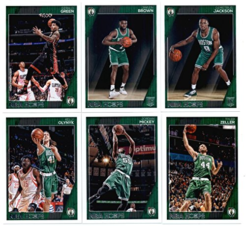 2016-17 Panini NBA Hoops Boston Celtics Team Set of 12 Cards: Isaiah Thomas(#23), Avery Bradley(#24), Jae Crowder(#25), Marcus Smart(#26), Al Horford(#43), Kelly Olynyk(#174), Terry Rozier(#175), Jordan Mickey(#176), Tyler Zeller(#177), Gerald Green(#190), Jaylen Brown(#263), Demetrius Jackson(#296)