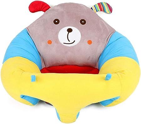 KEKEDA Asiento de apoyo para bebé, sofá de bebé para aprender a sentarse, silla de lactancia segura para sentarse y alimentar el sofá, juguetes de regalo de felpa